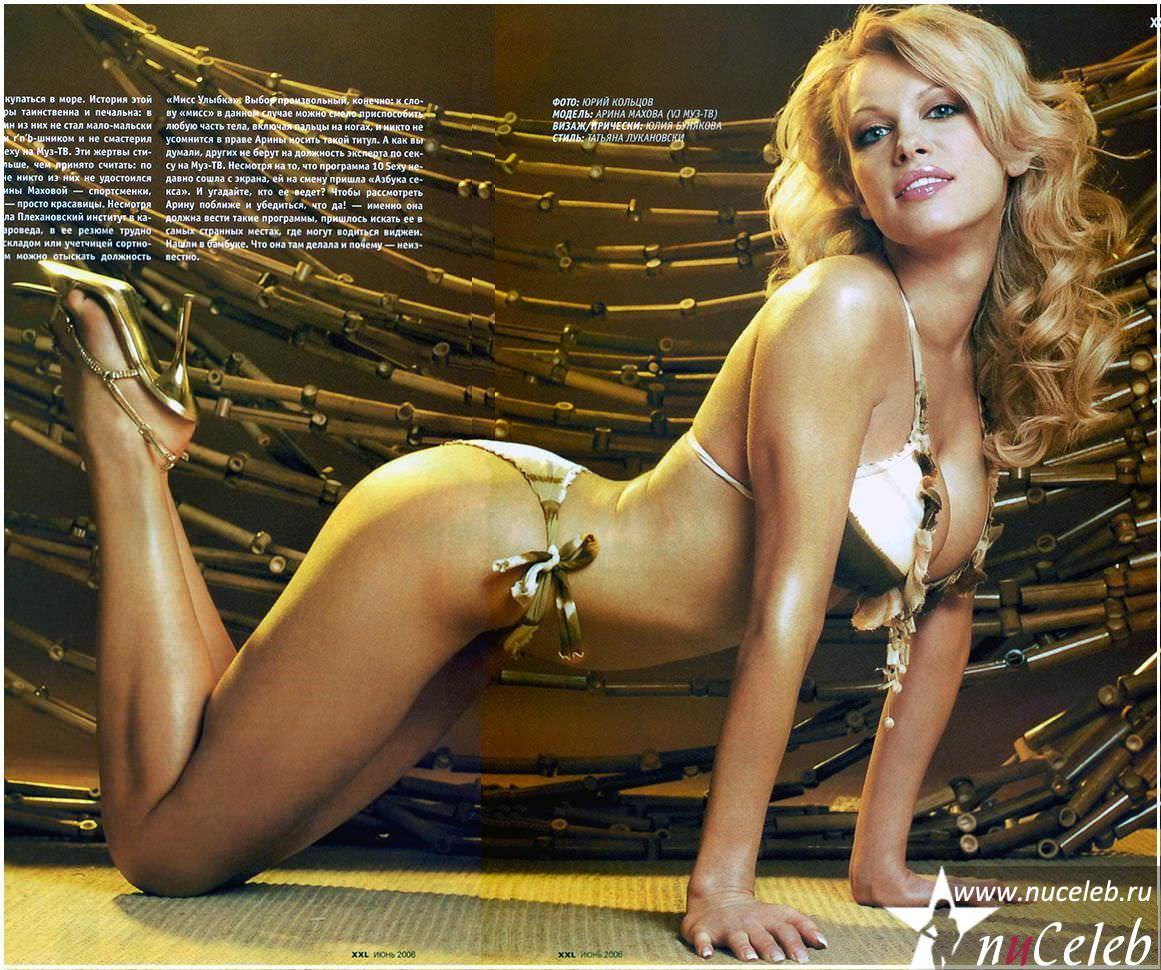 Голая Настя Каменских в плейбой фото Playboy август 2008